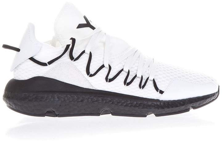 Y-3 Kusari White Fabric Sneakers