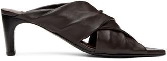 Jil Sander Brown Wrapped Sandals