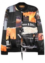 Blood Brother Core-ten Printed Satin Bomber Jacket
