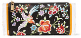 Edie Parker Soft Lara Embroidered Satin And Acrylic Box Clutch - Black