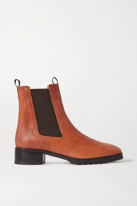 AEYDĒ Karlo Leather Chelsea Boots - Tan