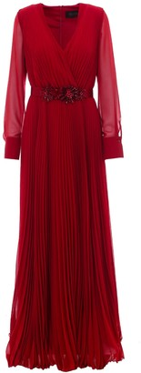 Max Mara Pleated Long Dress