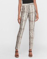 Express High Waisted Textured Snakeskin Ankle Pant