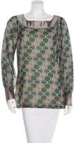 Tory Burch Abstract-Print Wool Blouse