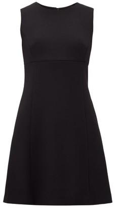 Dolce & Gabbana Panelled Wool-crepe Dress - Black