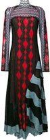 Peter Pilotto asymmetric lace patchwork dress - women - Silk/Polyamide/Polyester/Viscose - XS