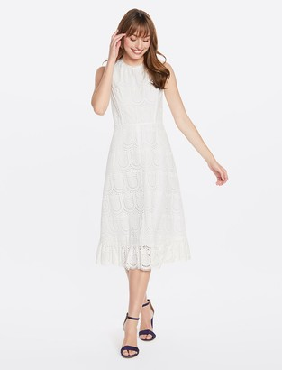 Draper James Eyelet Midi Love Circle Dress