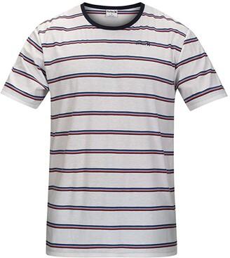 Hurley Serape Stripe Short Sleeve Tee (Black) Men's Clothing