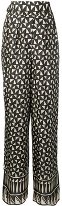 Alberta Ferretti Geometric Print Trousers