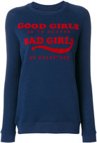 Zoe Karssen Bad Girls print sweatshirt - women - Cotton/Polyester - S