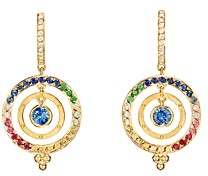 Temple St. Clair 18K Yellow Gold Celestial Piccolo Tolomeo Diamond & Rainbow Gemstone Earrings