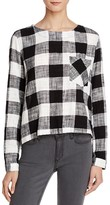 Bella Dahl Buffalo Plaid Button Back Shirt