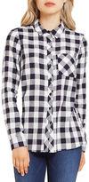 BCBGeneration Gingham Plaid Button-Down Shirt