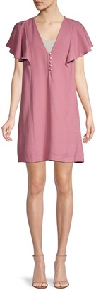 BCBGeneration Flutter-Sleeve Mini Shift Dress