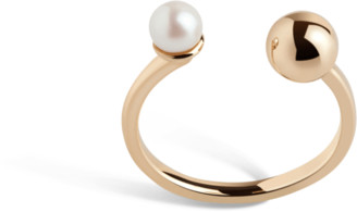 AUrate New York Asymmetric Pearl Ring