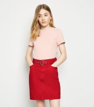 New Look Girls Belted Denim Skirt
