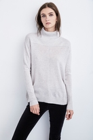 Rosa Lurex Mock Neck Cashmere Sweater