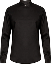 Wooyoungmi Stand-collar panelled-front shirt