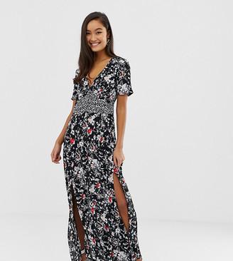 Miss Selfridge maxi tea dress in floral print