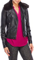 RD Style Faux Leather Asymmetrical Jacket