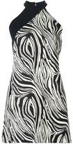 Fausto Puglisi zebra print halterneck dress