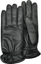 Pineider Men's Black Deerskin Leather Gloves w/ Cashmere Lining