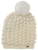 Superdry New Womens Natural Bobble Stitch Acrylic/Wool Beanie Hats