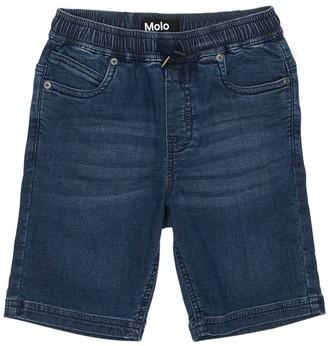 Molo Stretch Cotton Denim Shorts