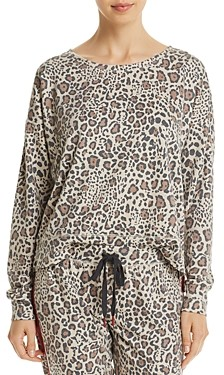 PJ Salvage Wild Heart Leopard Print French Terry Top