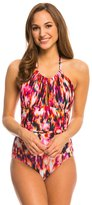 Kenneth Cole Floral Explosion High Neck One Piece Swimsuit 8139288