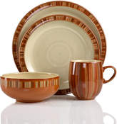 Denby Dinnerware, Fire Stripes 4 Piece Place Setting