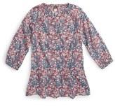 Tea Collection Azuma Floral Print Drop Waist Top (Toddler Girls, Little Girls & Big Girls)