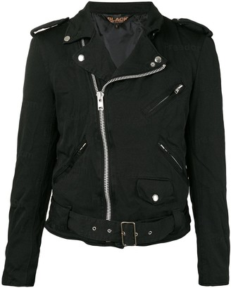 Black Comme Des Garçons Moto Jacket