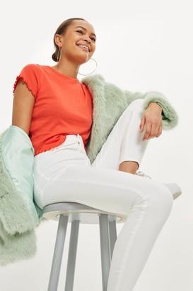 Topshop Womens White Joni Jeans - White