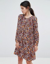 Traffic People Smock Dress In 70s Floral Print