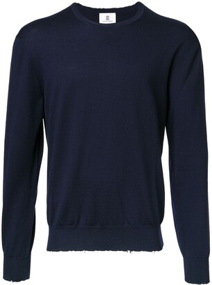 Kent & Curwen Distressed Crew Neck Jumper