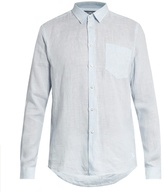 Vilebrequin Caroubis Micro-striped Button-cuff Linen Shirt