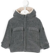 Il Gufo textured hooded jacket