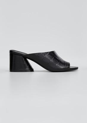 Mercedes Castillo Izar Low-Heel Slide Sandals