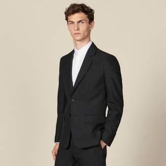 Sandro Topstitched suit jacket