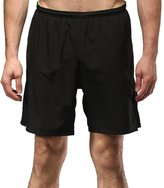 Willarde Men's 2 in 1 Training Shorts with Compression Lining and Back Zip Pocket
