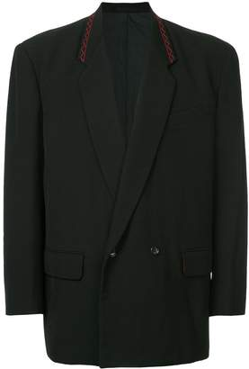 Comme des Garcons Pre-Owned padded-shoulder double-breasted blazer