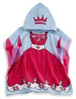 Kids Printed Princess Hooded Beach Towel in Pink/Blue