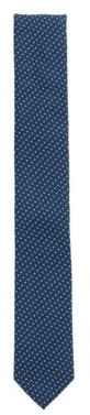 HUGO BOSS Italian-made patterned tie in 100% recycled fabric