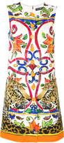 Dolce & Gabbana Majolica leopard print dress