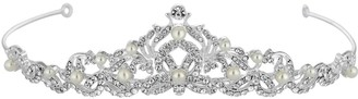 Jon Richard Jewellery Silver Pearl And Crystal Isabella Swirl Tiara