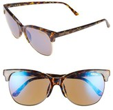 Smith Optics Women's 'Rebel' 57Mm Cat Eye Sunglasses - Flecked Blue Tortoise/ Blue