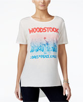 Hybrid Juniors' Woodstock High-Low Graphic T-Shirt