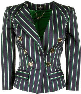 Elisabetta Franchi Celyn B. Jacket With Pinstripes