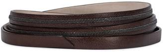 Brunello Cucinelli Embellished leather belt